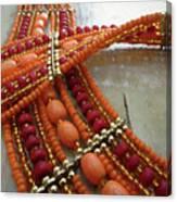 Orange Necklace Canvas Print