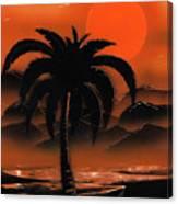 Orange Oasis Canvas Print