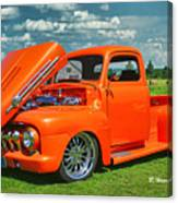Orange Pick Up At The Car Show Canvas Print