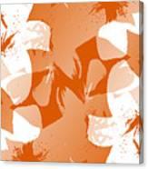 Orange Poster Lilies Canvas Print