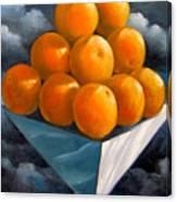 Orange Pyramid In Space Canvas Print