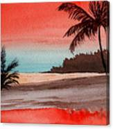 Orange Sky Of Kauai Canvas Print