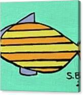 Orange Stripes Canvas Print