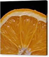 Orange Sunrise On Black Canvas Print