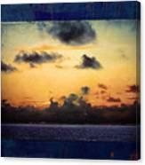 Orange Sunset Over Ocean Canvas Print