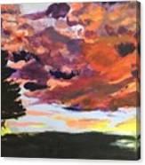Orange Sunset Spectator Canvas Print