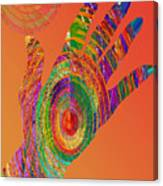 Orange Swirl Hand Canvas Print