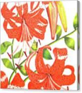 Orange Tiger Lilies Canvas Print