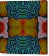 Orange Turquoise Floral Gem Canvas Print