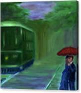 Orange Umbrella- I Canvas Print