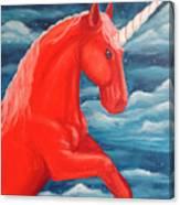 Orange Unicorn Canvas Print