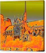 Orange Version Of Notre Dame Canvas Print