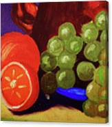 Oranges And Grapes Canvas Print