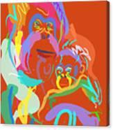 Orangutan Mom And Baby Canvas Print