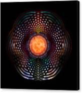 Orb Moon Rings Canvas Print