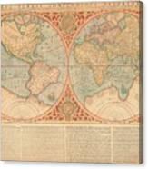 Orbis Terrae Compendiosa Descriptio  Quam Ex Magna Universali Gerardi Mercatoris Domino Richardo  Canvas Print