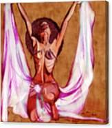 Orbs Brown Canvas Print