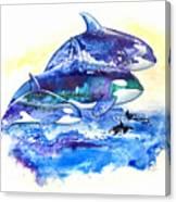 Orca Fantasy Canvas Print