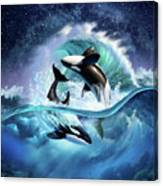 Orca Wave Canvas Print