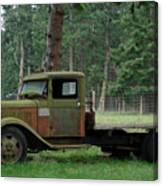 Orcas Island Old Truck Canvas Print