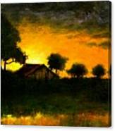 Orchard Sundown Canvas Print