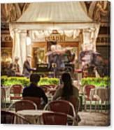 Orchestra At Ristorante Quadri On St Mark's Square - Venice Canvas Print