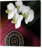Orchid And Burmese Bowl Canvas Print