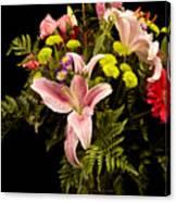 Orchid Arrangement In Color  Canvas Print