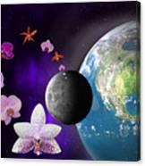 Orchid Moon Base Canvas Print