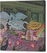 Order Of Polka Dots Emblem Float - Side View - Colored Pencil Canvas Print