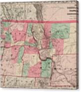 Oregon And Washington Territory Canvas Print