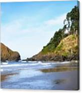 Oregon - Beach Life Canvas Print