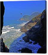 Oregon Coast From Sea Lion Caves Canvas Print