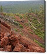 Oregon Landscape - Red Rocks At Lava Butte Canvas Print