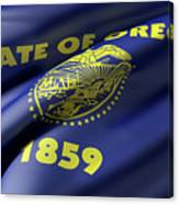 Oregon State Flag Canvas Print