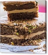 Organic Coffee And Pistachio Cake A Canvas Print
