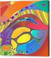 Organic Life Scan Or Cellular Light - Original, Square Canvas Print