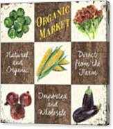 Organic Market Patch Canvas Print
