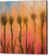 Organic Watercolor Art Canvas Print