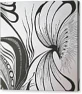 Organza Bloom Canvas Print
