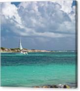 Orient Beach Catamaran Canvas Print