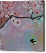 Oriental Cherry Canvas Print