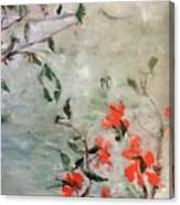 Oriental Orange Flowers Canvas Print