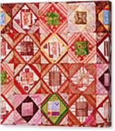 Oriental Patchwork Tapestry Canvas Print