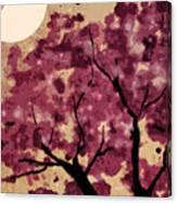 Oriental Plum Blossom Canvas Print