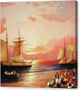 Oriental Sailor Chiefs Gathered For A Meeting On The Shores Of The Black Sea Canvas Print