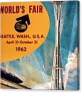 Original 1962 Seattle Worlds Fair Promotion Canvas Print