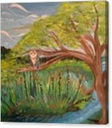 Original Acrylic Artwork By Mimi Stirn - Hoomasters Collection Hoomonet #413 Canvas Print