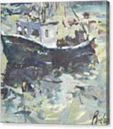 Original Lobster Boat Painting Canvas Print
