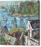 Original Modern Abstract Maine Landscape Painting Canvas Print